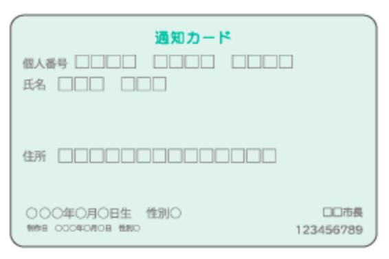 ナンバーカード カード 違い 通知 マイ